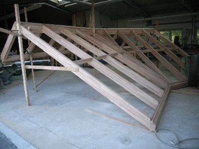 <h3> </h3>  Fertiggestellte Dachkonstruktion