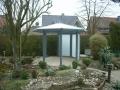 verglaster Gartenpavillon