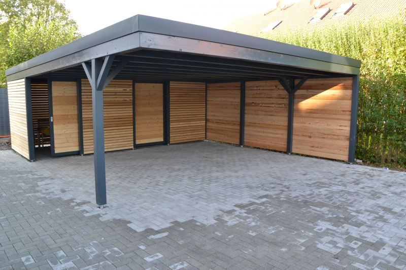 carport mit ger teschuppen oy32 hitoiro. Black Bedroom Furniture Sets. Home Design Ideas