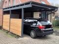Carport als Flachdachkonstruktion