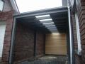Carport aus BSH-Leimholz mit Lichtband