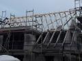 Herstellung einer Dachkonstruktion aus Konstruktionsvollholz