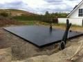 Neubau einer Pultdach DHH: Fertige Bodenplatte