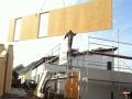 Neubau einer Pultdach DHH: Montage der Hauswände
