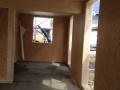 Neubau einer Pultdach DHH: Rohbau von innen