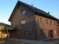 Doppelhaus in Holzrahmenbauweise mit Carport