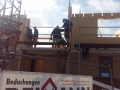 Einfamilienhaus in Holzrahmenbauweise/Montage des 1. OG