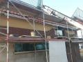 Einfamilienhaus in Holzrahmenbauweise/Dacheindeckung, Verklinkerung