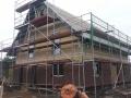 Einfamilienhaus in Holzrahmenbauweise - Außenverklinkerung
