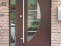 Meranti Holzhaustür mit feststehendem Seitenelement