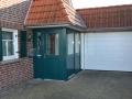 Hauserker mit Holzhaustür