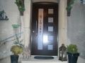 Holzhaustür aus Meranti