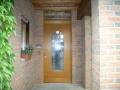 Meranti Haustür mit festverglasten Oberlicht