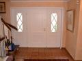 Meranti Holzhaustür mit zwei festen Seitenelementen