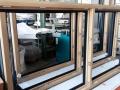 Eiche-Massiv Fenster IV 78 mit Aluminiumprofilen von außen