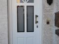 Meranti Haustür mit Lichtausschnitt