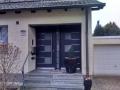 Meranti Holzhaustür mit festem Seitenelement