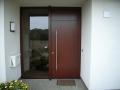 Haustür Meranti mit flächenbündigem Oberlicht und Seitenteil