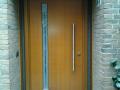 Meranti Holzhaustür naturfarbend lackiert