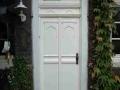 profilierte Holzhaustür mit festem Oberlicht
