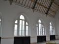 Meranti Holzfenster, Einbau in denkmalgeschützter Fassade