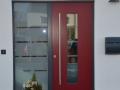 Meranti Holzhaustür mit festverglastem Seitenelement