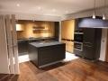 Küchenmöbel - Eiche/anthrazit kunststoffbeschichtet