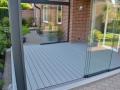 Aluminium Terrassendach mit Glas-Schiebtür-Elemente