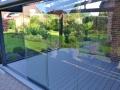 Aluminium Terrassendach mit Glas-Schiebetür-Elemente