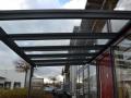 Aluminium Terrassendach mit unten liegender Statik/Profile