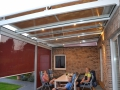 Aluminium Terrassendach mit senkrecht und Dachbeschattung