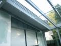 Innenansicht geschlossenes Holz/Aluminium Terrassendach