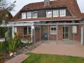 Aluminium Terrassendach mit Glas-Schiebe-Tür Elementen
