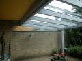 Terrassenüberdachung Holz/Alu inkl.Sonnenschutz. Montage unterhalb der Balkondecke