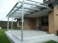 Aluminium Terrassendach mit 350 mm Überstand