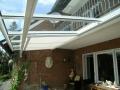 Aluminium Terrassendach mit Unterglas Beschattung