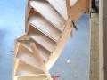 Herstellung einer Holzwangentreppe