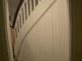 Eiche Massiv Holztreppe mit Einbauschraunk