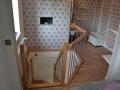 Buchen-Massiv Treppe auf Edelstahlbolzen gelagerte Trittstufen