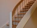 Eichen-Massiv Treppe auf Edelstahlbolzen gelagerte Trittstufen