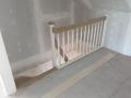 2 1/4 gewendelte eingestemmte Eichentreppe als Holzwangentreppe