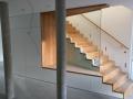 Aufgesattelte Holzkonstruktions-Treppe