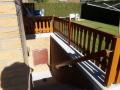Außen Treppen-Geländer aus Eiche