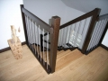 Holzwangentreppe mit auswelchselbaren Stufen