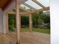 Innenansicht Wintergarten Holz/Aluminium
