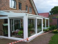 Wintergartendach in Holz-Aluminium, Unterbauelemente aus Kunststoff