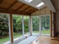 Holz-Aluminium Wintergarten mit geschlossener Dachziegelfläche, Innenanschicht