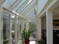 Innenansicht Wintergarten. Unterbauelemente mit Kunststoffelemente
