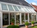 Wintergarten - Dach in Holz/Aluminium, Unterbau mit Kunststoffelemente
